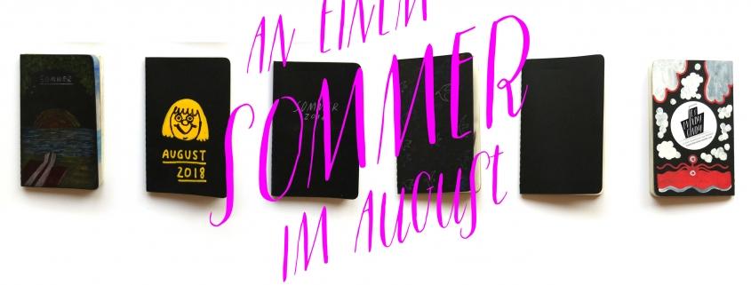 """Ausstellung """" In einem Sommer im August"""" im HolzHaus Linz · Skizzen, Comics und voll Arge Stories Die Sommergeschichten handeln vom Baden, von Umweltsünden, vom Fremdsein und von Belästigungen. Von Hitze und von Seen, von Ängsten und Hunger. Vom Lieben und Sterben sowieso. Anne Becker, Claudia Burmeister, Antje Hubold, Silke Müller, Tine Schulz und Lara Swiontek spannen ihre Zeichnungen zwischen Linz, Rostock und Berlin, über England nach Dänemark und bis Malta. Illustration: © Tine Schulz Foto © Silke Müller"""